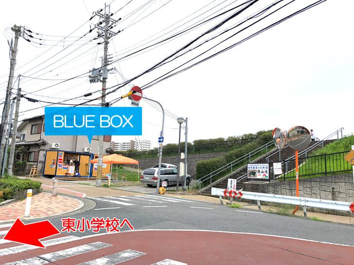 BLUE BOXの場所は