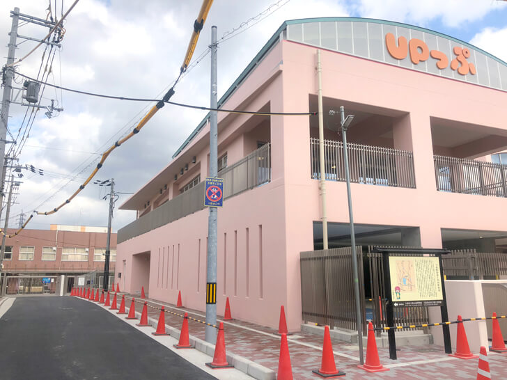 「UPっぷ」から狭山中学校正門へ