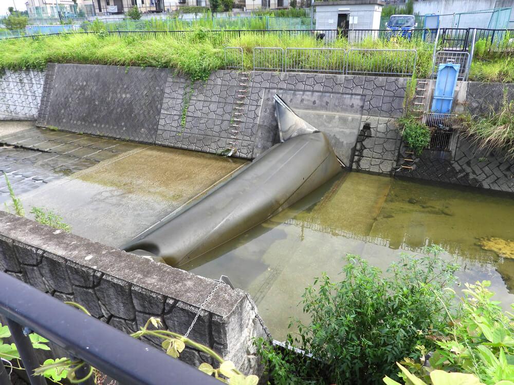 【ゴム堰(せき)】8月19日の豪雨後の様子が気になって「西除川」へ行ってきた-(1)