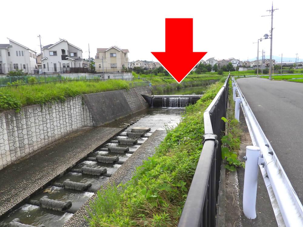 普段の半田井堰(いせき)