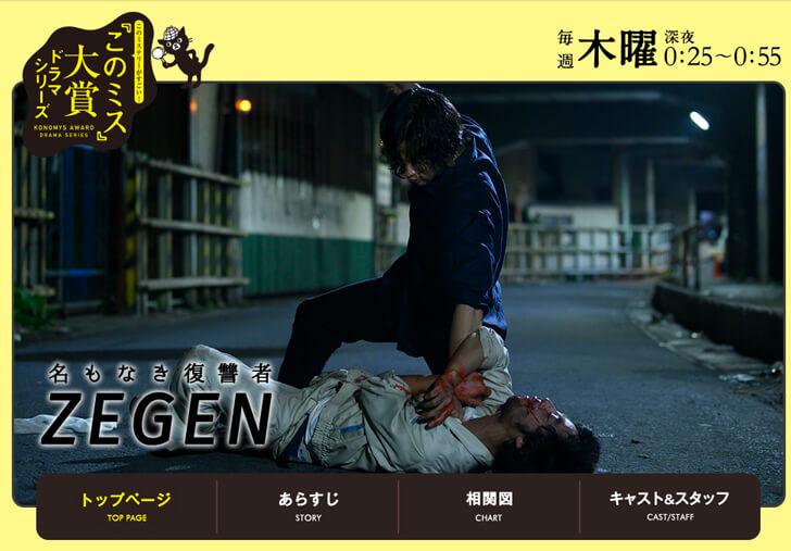 第17回『このミステリーがすごい(このミス)』大賞受賞作品「名もなき復讐者 ZEGEN」が書籍化&ドラマ化
