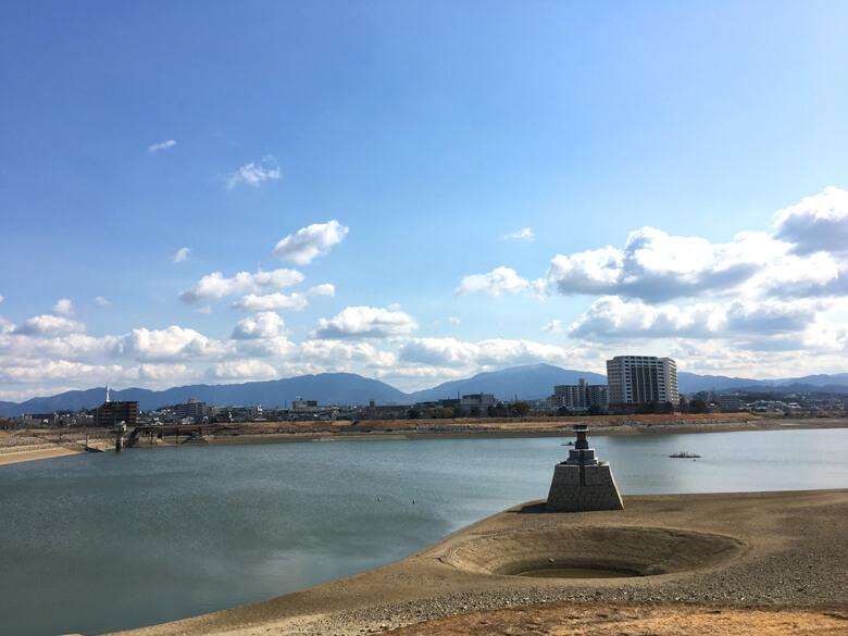 龍神社前の『龍神淵』(2018年2月8月撮影)