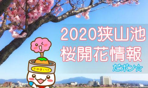 【狭山池の桜開花情報2020】狭山池の未確認生物「さやポン」が発信だポン☆