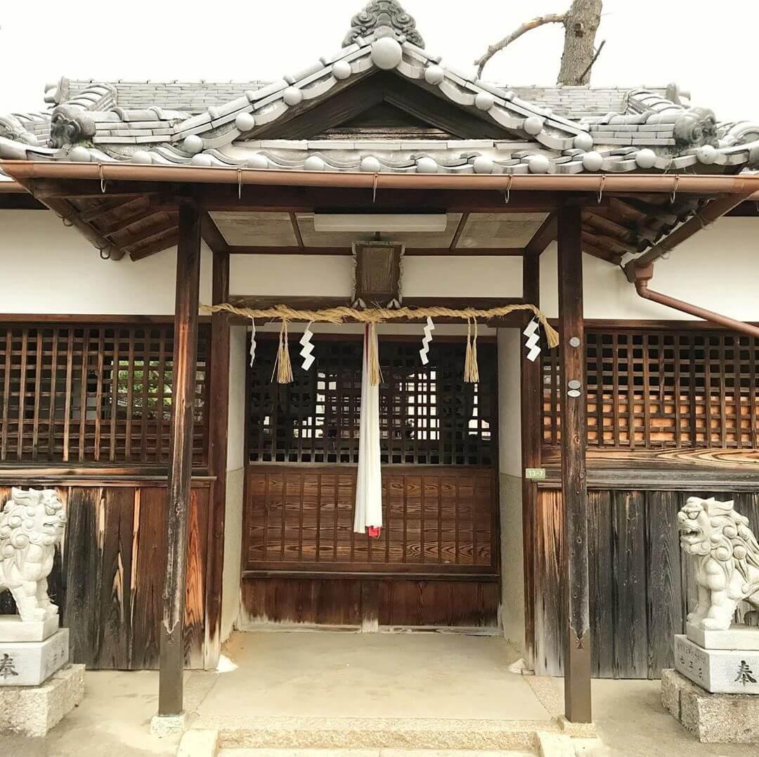 池尻地区を散歩中に通りかかった「狭間神社(はざまじんじゃ)」 (3)