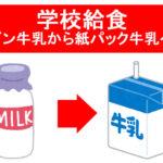 【ビンから紙パックへ】学校給食における牛乳の提供方法が2021年4月より変更